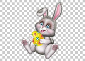 复活节兔子复活节彩蛋,鸡蛋和兔子PNG剪贴画哺乳动物,画,手,兔子