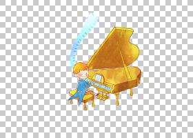大钢琴演奏家钢琴音符,小男孩弹钢琴PNG剪贴画家具,钢琴,橙色,电