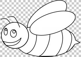 大黄蜂大纲蜜蜂,卡通蜜蜂着色页PNG剪贴画角,白色,脸,手,脊椎动物