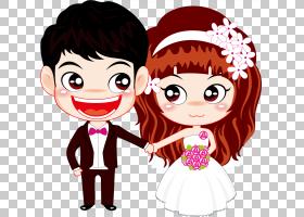 夫妇卡通婚姻,婚礼木偶PNG剪贴画爱,结婚周年纪念,孩子,脸,假期,