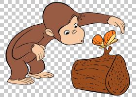 好奇的乔治好奇心卡通,生日的好奇PNG剪贴画哺乳动物,食品,carniv
