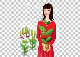 妇女老师,拿着花PNG clipart的女老师食品,卡通,花卉,虚构人物,女