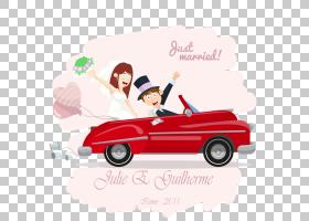婚礼邀请婚礼摄影,刚刚结婚的PNG剪贴画假期,摄影,婚礼,老式汽车,