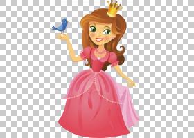 婚礼邀请贺卡生日公主,童话公主设计PNG剪贴画祝你生日快乐,卡通,