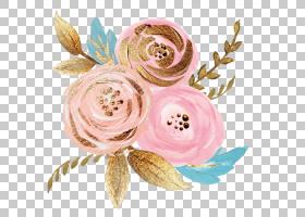 婚礼邀请鲜花速递花卉粉红色,手绘花卉,粉红色的花瓣PNG剪贴画水