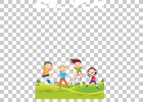 孩子,草坪上的孩子,四个动画儿童PNG剪贴画儿童服装,文本,人,电脑