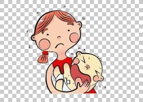 孩子哭泣的母亲卡通,婴儿在卡通母亲PNG剪贴画的怀抱中哭泣爱,卡