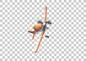 尘土飞扬的Crophopper飞机单翼飞机翼墙贴花,卡通飞机PNG剪贴画橙