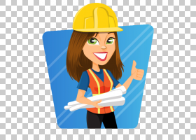 工程女人女孩,女孩的PNG剪贴画蓝色,工程师,卡通,电动蓝色,女性女