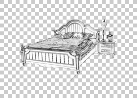 床架,床PNG剪贴画家具,床垫,画,手,单色,床,顶视图床,卡通,卧室,9