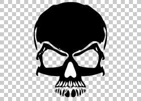 徽标编辑,黑色骷髅卡通PNG剪贴画卡通人物,单色,人类,头,生日快乐