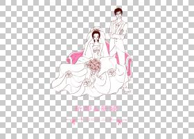 服装卡通海报新娘,婚礼水卡卡通水卡,以避免绘制PNG剪贴画白色,文
