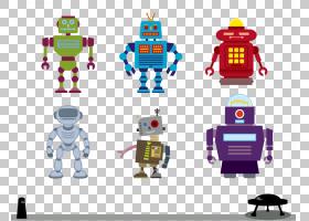机器人Adobe Illustrator,机器人PNG剪贴画电子产品,生日快乐矢量
