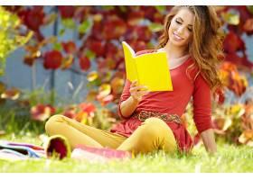 女人,美丽的,秋天,季节,自然,叶子,模特,时尚,风格,壁纸,图片