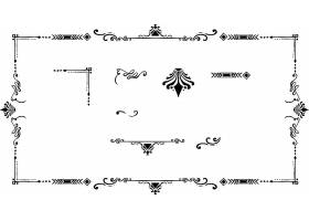 欧式简洁创意花纹矢量设计