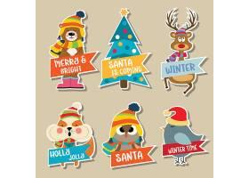 可爱卡通圣诞节创意个性装饰元素