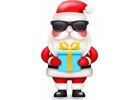 圣诞老人送礼创意个性装饰元素背景