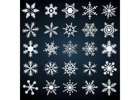 雪花形状创意个性装饰元素