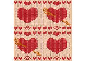 针织衣情人节装饰元素插画设计