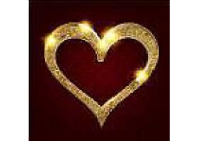 金色爱心情人节装饰图案插画设计