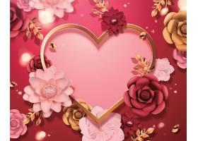 情人节花卉主题装饰元素设计