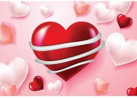 情人节爱心装饰元素插画设计