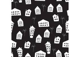 抽象个性城市剪影无缝图案矢量设计图片