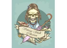 创意个性骷髅T恤印花装饰图案设计