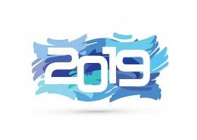 涂鸦风创意2019新年元素装饰图案设计图片
