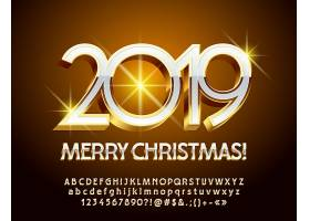 闪耀2019圣诞节元素装饰图案设计