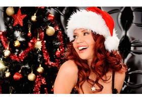 女人,白露,波尚,成年人,圣诞节,圣诞节,装饰品,圣诞老人,帽子,红