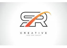 字母SR形象创意LOGO设计
