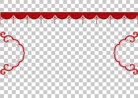 Chinoiserie Red,中国新年红色材料PNG剪贴画爱,假期,文本,中国风