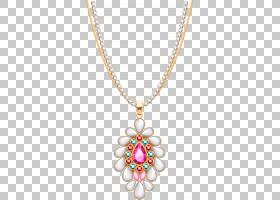 Locket项链珠宝钻石,金色简洁项链PNG剪贴画宝石,吊坠,金色框架,图片