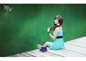 女人,箫,年轻人,模型,中国,壁纸,(7)图片