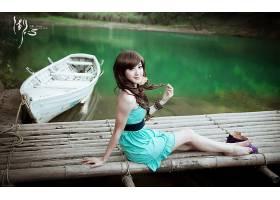 女人,箫,年轻人,模型,中国,箫,年轻人,湖,壁纸,图片