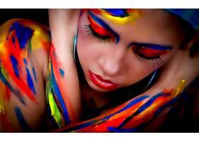 女人,身体,绘画,壁纸,