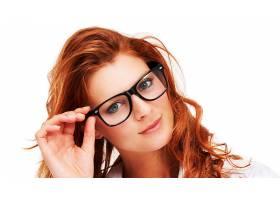 女人,模特,眼镜,壁纸,