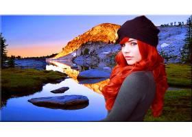 女人,模特,红发的人,妇女,壁纸,(1)