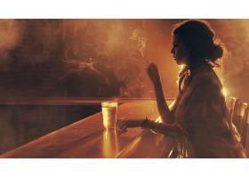女人,情绪,模型,时尚,风格,啤酒,烟,吸烟,壁纸,