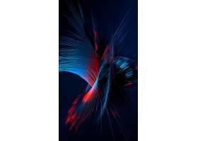 H5炫彩流动立体线条背景图片