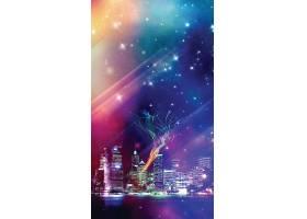 H5炫彩城市夜景背景图片