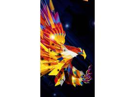 H5炫彩老鹰晶格抽象背景图片