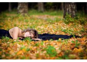 女人,情绪,模特,时尚,风格,秋天,季节,叶子,壁纸,图片