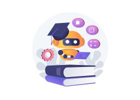 扁平化清新现代信息化科技插画设计
