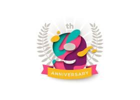 创意个性9周年庆典标签