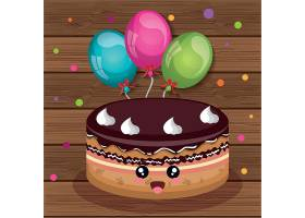 生日会生日派对蛋糕装饰插画元素