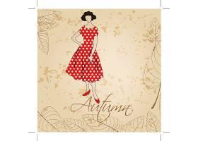 时尚女性装饰画插画设计