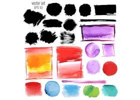 多款水彩笔墨笔痕涂鸦装饰图案素材