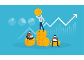 创意金融股票比特币市场矢量插画设计